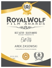 Best Actor (Silver Award) - Royal Wolf Film Awards - February 2019