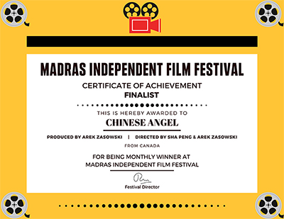 Finalist – May 2020 – Madras Independent Film Festival
